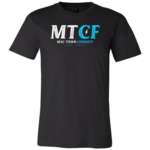 Mac Town CrossFit - 100 - Blue Lightning - Bella + Canvas - Men's Short Sleeve Jersey Tee