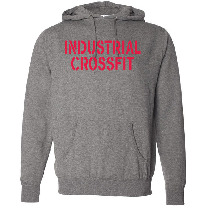 Industrial CrossFit - 100 - Red - Independent - Hooded Pullover Sweatshirt
