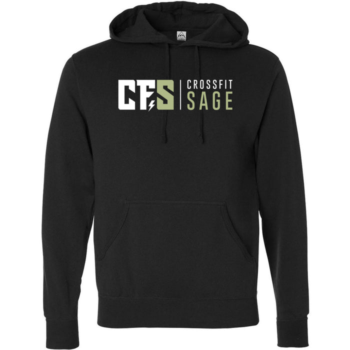 CrossFit Sage - 100 - Stacked - Independent - Hooded Pullover Sweatshirt