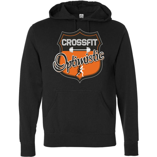 CrossFit Optimistic - 100 - Crest - Independent - Hooded Pullover Sweatshirt