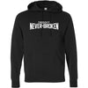 CrossFit Never Broken - 201 - White - Independent - Hooded Pullover Sweatshirt