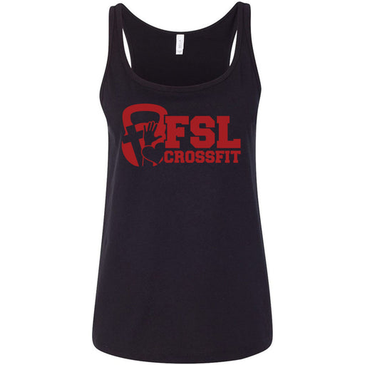FSL CrossFit - 100 - Red - Bella + Canvas - Women's Relaxed Jersey Tank