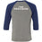 Precision CrossFit - 202 - Team Precision - Bella + Canvas - Men's Three-Quarter Sleeve Baseball T-Shirt