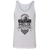 CrossFit Helix - 100 - Strong And Courageous - Bella + Canvas - Men's Jersey Tank