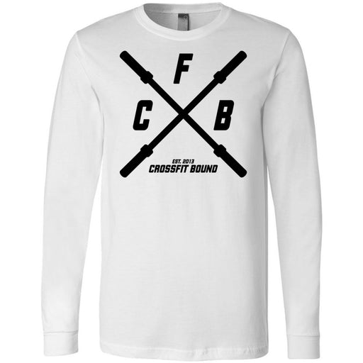 CrossFit Bound - 100 - Barbell - Bella + Canvas 3501 - Men's Long Sleeve Jersey Tee