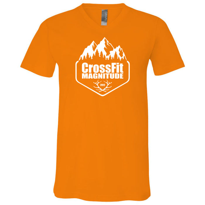 CrossFit Magnitude - 100 - One Color - Bella + Canvas - Men's Short Sleeve V-Neck Jersey Tee