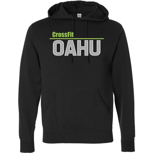 CrossFit Oahu - 201 - Fittest White Green - Independent - Hooded Pullover Sweatshirt