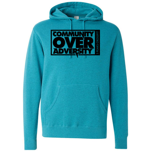 3 Peaks CrossFit - 100 - Community - Independent - Hooded Pullover Sweatshirt