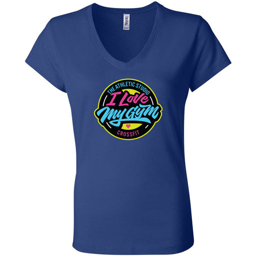 TAS CrossFit - 100 - I Love My Gym - Bella + Canvas - Women's Short Sleeve Jersey V-Neck Tee