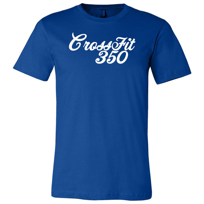 CrossFit 350 - 100 - Script - Bella + Canvas - Men's Short Sleeve Jersey Tee