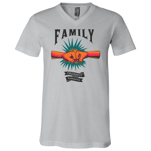 CrossFIt Washington - 100 - Family - Bella + Canvas - Men's Short Sleeve V-Neck Jersey Tee