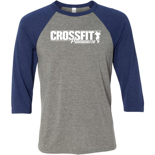 CrossFit Parramatta - 100 - One Color - Bella + Canvas - Men's Three-Quarter Sleeve Baseball T-Shirt