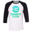 CrossFit Eclipse - 100 - Summer - Bella + Canvas - Men's Three-Quarter Sleeve Baseball T-Shirt