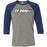 CrossFit Oahu - 100 - Joe - Bella + Canvas - Men's Three-Quarter Sleeve Baseball T-Shirt