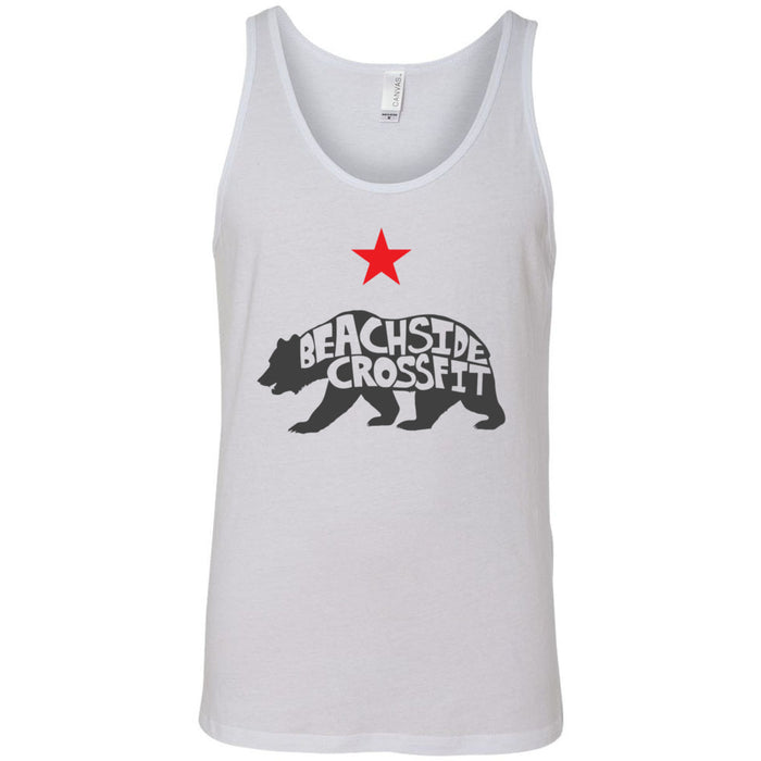BeachSide CrossFit - 100 - Red Star - Bella + Canvas - Men's Jersey Tank