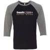CrossFit Cajir - 100 - Standard - Bella + Canvas - Men's Three-Quarter Sleeve Baseball T-Shirt