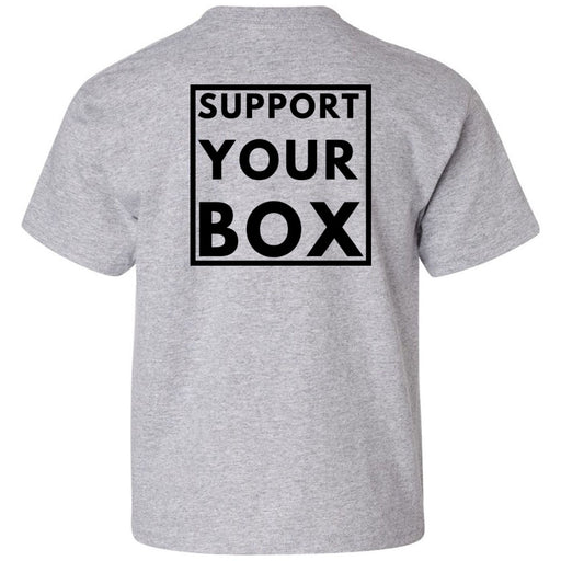 Hub City CrossFit - 200 - Support Your Box - Gildan - Heavy Cotton Youth T-Shirt