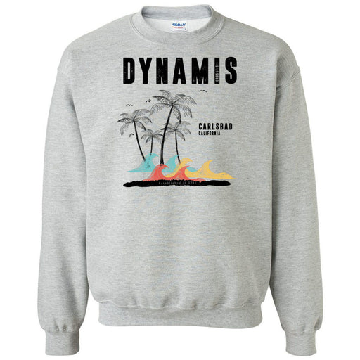 Dynamis CrossFit - 100 - Palm Tree Black - Gildan - Heavy Blend Crewneck Sweatshirt