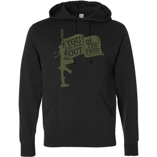 AMP Premium - 100 - You Are Never Out of the Fight - Independent - Hooded Pullover Sweatshirt