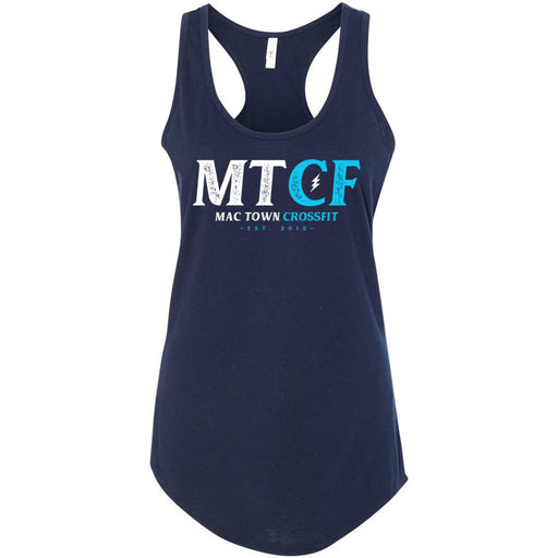 Mac Town CrossFit - 100 - Blue Lightning - Next Level - Women's Ideal Racerback Tank