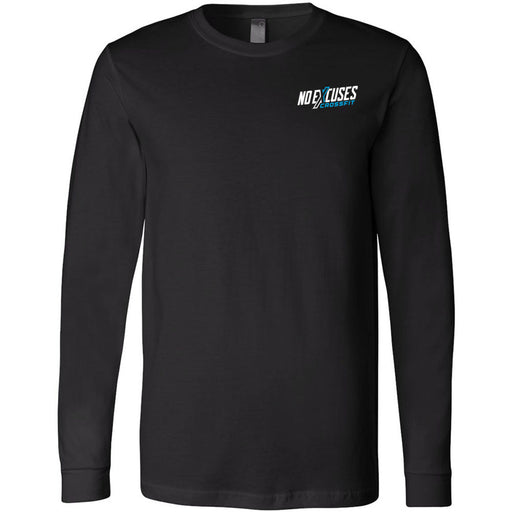No Excuses CrossFit - 100 - Pocket - Bella + Canvas 3501 - Men's Long Sleeve Jersey Tee