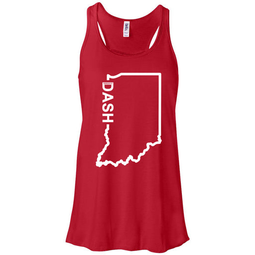 CrossFit Dash - 100 - Indiana Dash - Bella + Canvas - Women's Flowy Racerback Tank