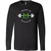 CrossFit 235 - 100 - Barbell - Bella + Canvas 3501 - Men's Long Sleeve Jersey Tee