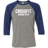 CrossFit Diamond State - 100 - Standard - Bella + Canvas - Men's Three-Quarter Sleeve Baseball T-Shirt