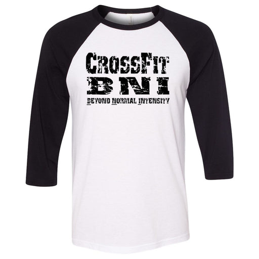 CrossFit BNI - 100 - Standard - Bella + Canvas - Men's Three-Quarter Sleeve Baseball T-Shirt