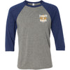 CrossFit Radiate - 100 - Standard - Bella + Canvas - Men's Three-Quarter Sleeve Baseball T-Shirt