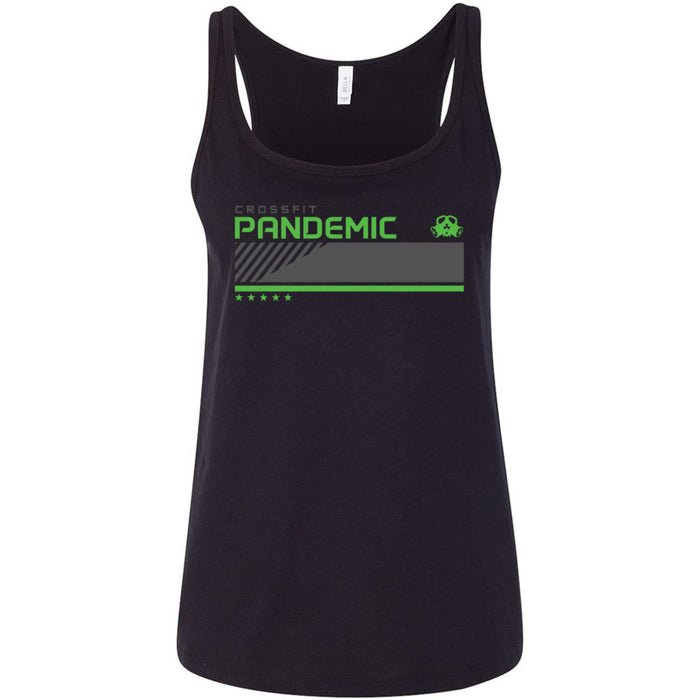 CrossFit Pandemic - 100 - Green - Bella + Canvas - Women's Relaxed Jersey Tank