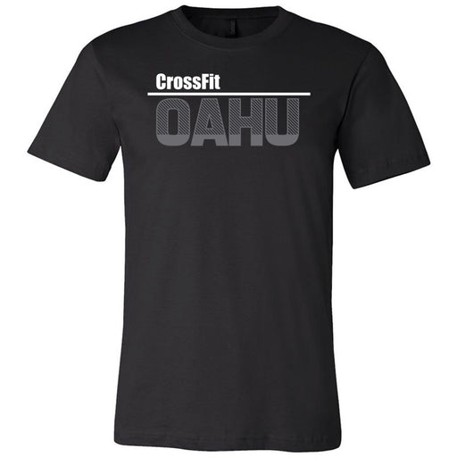 CrossFit Oahu - 200 - HI White Gray - Bella + Canvas - Men's Short Sleeve Jersey Tee