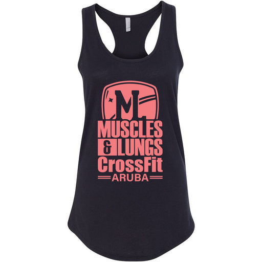Muscles & Lungs CrossFit - 100 - Peach - Next Level - Women's Ideal Racerback Tank