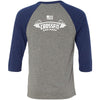 CrossFit River Prairie - 202 - Left - Bella + Canvas - Men's Three-Quarter Sleeve Baseball T-Shirt