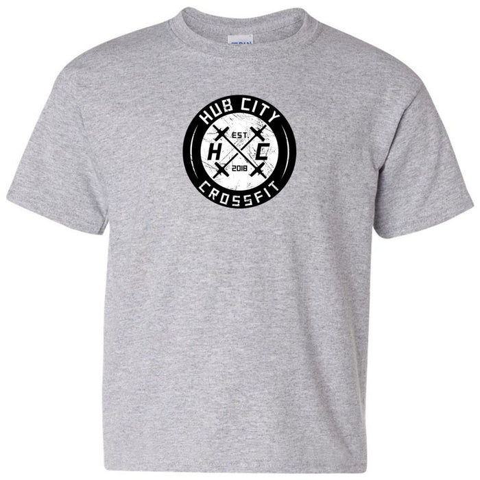Hub City CrossFit - 100 - Standard One Color - Gildan - Heavy Cotton Youth T-Shirt