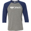 CrossFit Lindsay - 100 - Athlete - Bella + Canvas - Men's Three-Quarter Sleeve Baseball T-Shirt