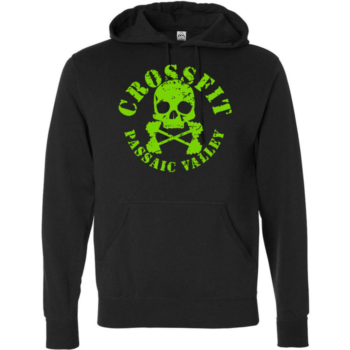 CrossFit Passaic Valley - 100 - Green - Independent - Hooded Pullover Sweatshirt
