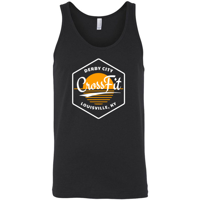 Derby City CrossFit - 100 - AA2 Paradise - Bella + Canvas - Men's Jersey Tank