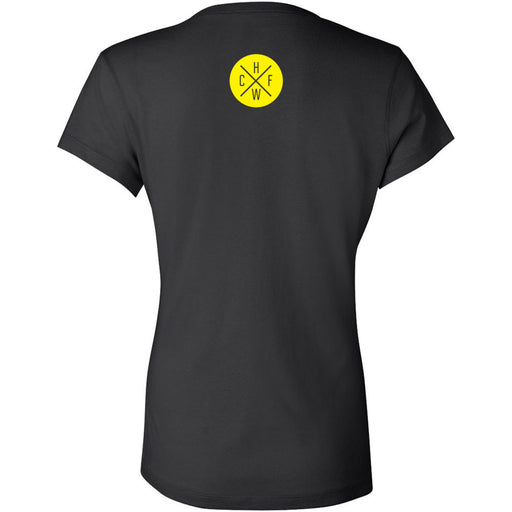 CrossFit Hollywood - 200 - Yellow - Bella + Canvas - Women's Short Sleeve Jersey V-Neck Tee