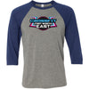 CrossFit Fort Worth East - 100 - Standard - Bella + Canvas - Men's Three-Quarter Sleeve Baseball T-Shirt