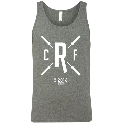 CrossFit Rolesville - 100 - Barbell - Bella + Canvas - Men's Jersey Tank