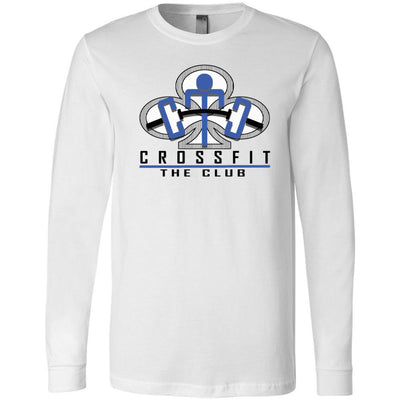CrossFit The Club - 100 - Blue - Bella + Canvas 3501 - Men's Long Sleeve Jersey Tee