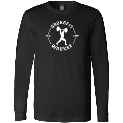 CrossFit Waukee - 100 - Lifter Round - Bella + Canvas 3501 - Men's Long Sleeve Jersey Tee