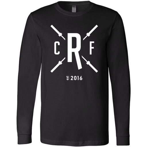 CrossFit Rolesville - 202 - Barbell - Bella + Canvas 3501 - Men's Long Sleeve Jersey Tee
