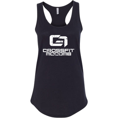 CrossFit McComb - 100 - White - Next Level - Women's Ideal Racerback Tank