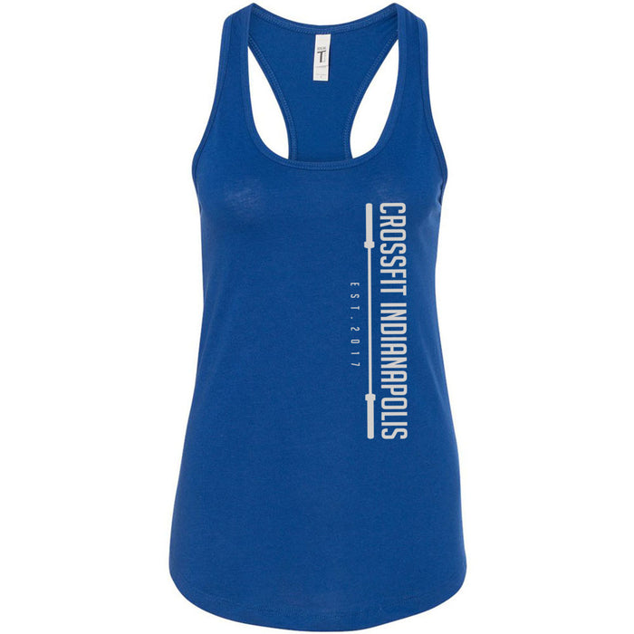 CrossFit Indianapolis - 100 - Stacked - Next Level - Women's Ideal Racerback Tank