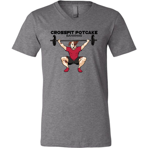CrossFit Potcake - 100 - Bahamas - Bella + Canvas - Men's Short Sleeve V-Neck Jersey Tee