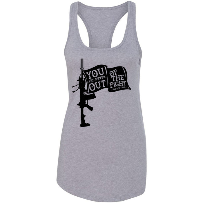 AMP Premium - 100 - You Are Never Out of the Fight - Next Level - Women's Ideal Racerback Tank