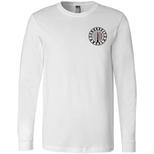 CrossFit Angola - 100 - Pocket - Bella + Canvas 3501 - Men's Long Sleeve Jersey Tee