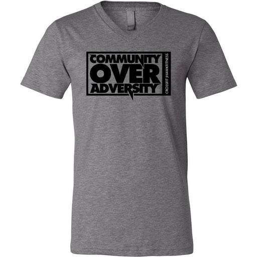 CrossFit Jhawkfitness - 100 - Community - Bella + Canvas - Men's Short Sleeve V-Neck Jersey Tee